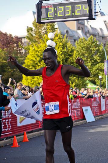 First place, victoria marathon 10-10-10